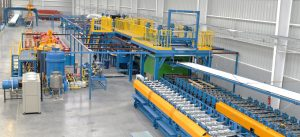 The production line of all kinds of sandwich panels
